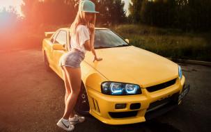 автомобили, -авто с девушками, nissan