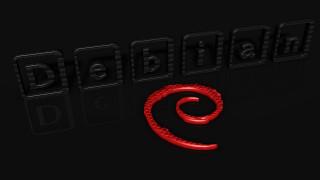 компьютеры, debian, фон, логотип