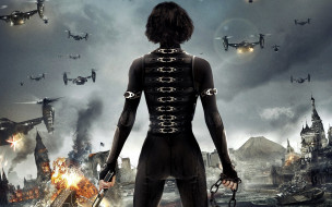 кино фильмы, resident evil 5,  retribution, коллаж