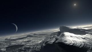 Pluto, планета, поверхность, грунт, снимок, фотография, атмосфера
