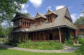 города, - здания,  дома, деревянный, дом