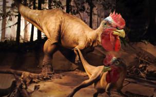 обои для рабочего стола 1920x1200 юмор и приколы, петух, динозавр, чудовище, дракон