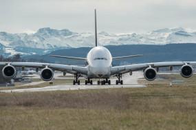пассажирский, самолёт, реактивный, четырехдвигательный, широкофюзеляжный, двухпалубный, Airbus A380