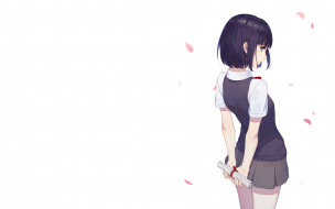 аниме, kuzu no honkai, фон, девушка, взгляд