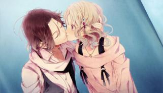 аниме, diabolik lovers, поцелуй