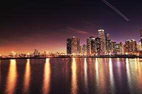 Chicago обои для рабочего стола 2048x1365 chicago, города, Чикаго , сша, ночь, огни