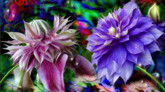 разное, компьютерный дизайн, цветы