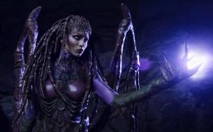 разное, cosplay , косплей, starcraft, ii, sarah, kerrigan, monster, cosplay, woman, 2, alien, heroes, of, the, storm, heart, swarm, game