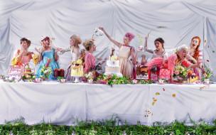 женщины, сладости, торты