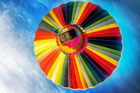 разноцветный, шар, полет