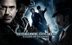 кино фильмы, sherlock holmes,  a game of shadows, коллаж