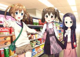 аниме, high school fleet, взгляд, фон, девушки