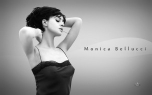 актриса, Моника Белуччи, черно-белая, шпилька