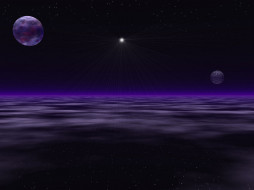 обои для рабочего стола 1600x1200 космос, арт, планеты, ночь