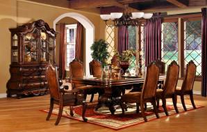 стол, стулья, буфет