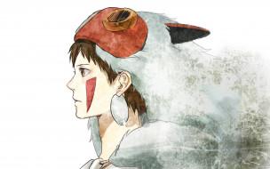 аниме, mononoke hime, принцесса, мононоке