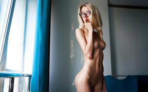 эротика, блондинки, грудь, фон, взгляд, девушка
