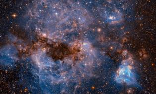 карликовая галактика типа SBm, спутник Млечного Пути, звезды, космос, фото с Хаббл, НАСА, Большое Магелланово Облако