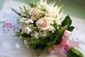 обои для рабочего стола 3000x2008 цветы, букеты, композиции, матиола, ромашки, бант, левкой, розы, салфетка