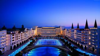 интерьер, бассейны,  открытые площадки, бассейн, у, гостиницы, mardan, palace, турция