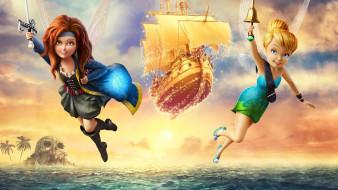 обои для рабочего стола 1920x1080 мультфильмы, the pirate fairy, персонажи