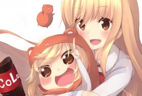 аниме, himouto umaru-chan, фон, взгляд, девушки
