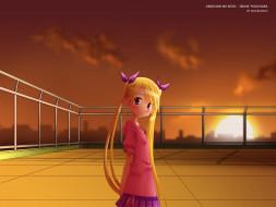 oniichan no koto, аниме, onisuki, взгляд, девушка, фон