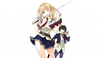 аниме, busou shoujo machiavellianism, busou, shoujo, machiavellism