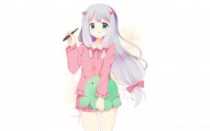 аниме, eromanga-sensei, фон, девушка, взгляд