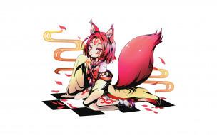 аниме, no game no life, фон, взгляд, девушка