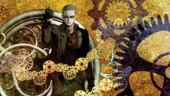 аниме, clockwork planet, anime, man, gears, time, suit, clock, japanese, hours, clockwork, planet