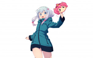 обои для рабочего стола 2560x1600 аниме, eromanga-sensei, девушки, взгляд, фон