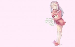 аниме, eromanga-sensei, взгляд, фон, девушка