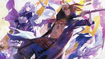 аниме, chain chronicle,  haecceitas no hikari, chain, chronicle, haecceitas, no, hikari, armor, japanese, mahou, ken, sword, girl, tatoo, blade, powerful, strong, game, anime, man