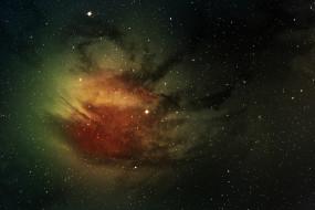 галактика, облако, звезды, туманность