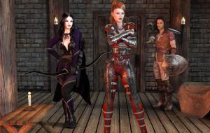 3д графика, фантазия , fantasy, взгляд, девушки, фон