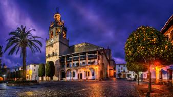 города, - католические соборы,  костелы,  аббатства, испания, архитектура, городской, площади, ронда