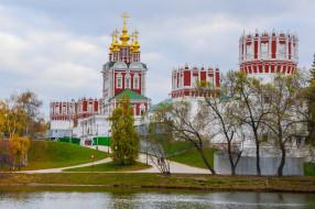 города, - православные церкви,  монастыри, богородице-смоленский, новодевичий, монастырь, москва, россия