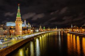 города, москва , россия, москва, московский, кремль, москва-река