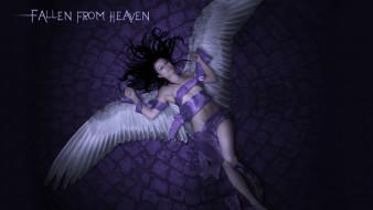 фэнтези, ангелы, крылья, фон, девушка