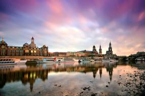 города, берлин , германия, отражение, корабли, река