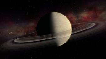 Большая планета Сатурн с кольцами