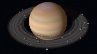 Планета Сатурн с кольцами