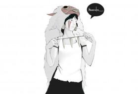аниме, mononoke hime, девушка