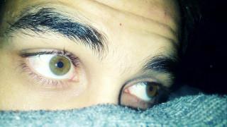 разное, глаза, зеленые