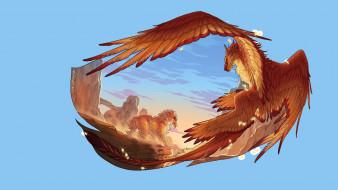 арт, крылья, фентези
