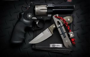 пистолет, оружие, нож