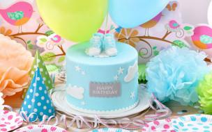 праздничные, день рождения, торт, воздушные, шары, birthday, день, рождения, happy, decoration, cake