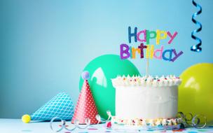 праздничные, день рождения, день, рождения, happy, decoration, торт, свечи, воздушные, шары, birthday, cake
