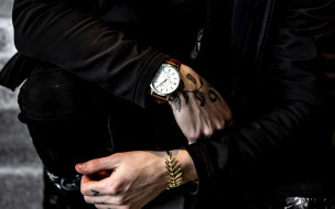 разное, руки, часы, тату, браслет
